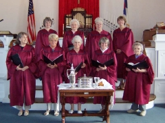 01 The first day the choir of the Sharon United Church of Christ wore their new robes.  June 5, 2005